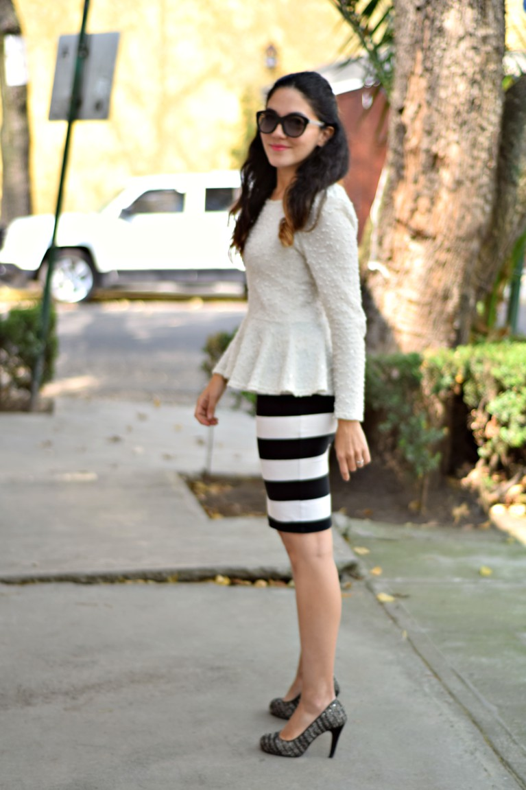 Peplum Top and Pencil Skirt