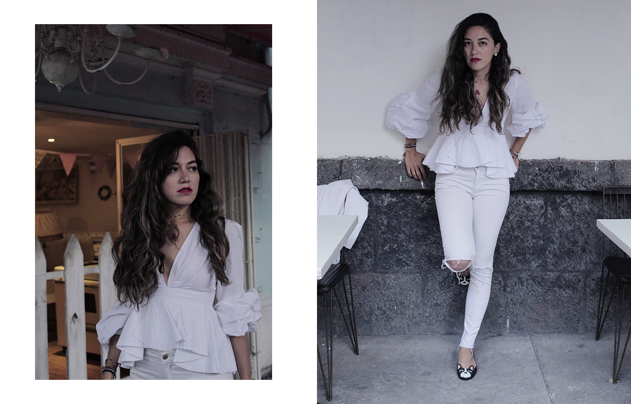 white monochrome look